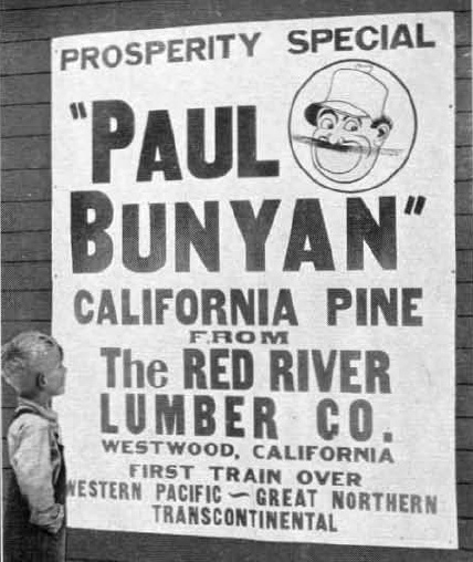 Paul Bunyan Pine sign