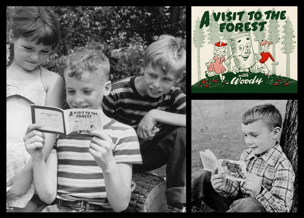Children reading Woody comic