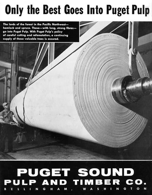 Puget Sound Pulp 1958 ad