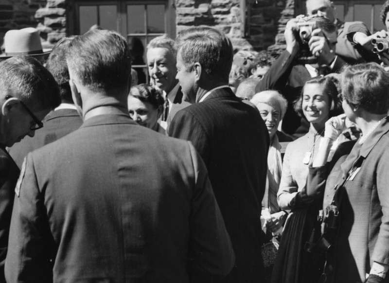 President John F. Kennedy at Grey Towers for Pinchot Institute dedication ceremony.