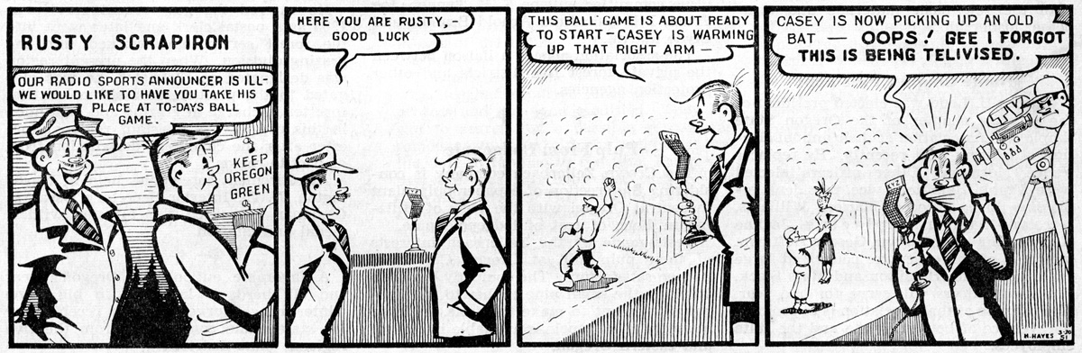 Rusty Scrapiron strip, April 1951