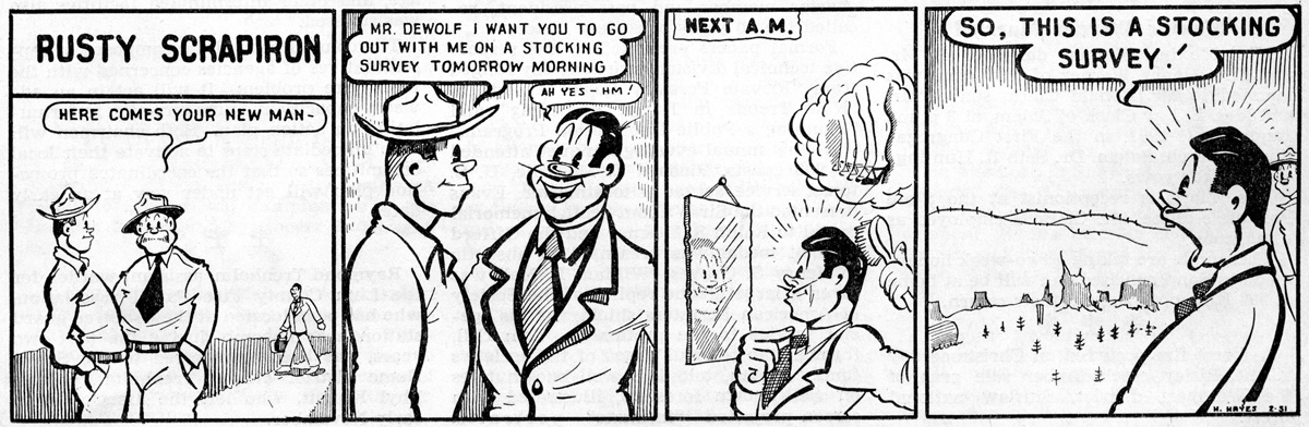 Rusty Scrapiron strip, February 1951