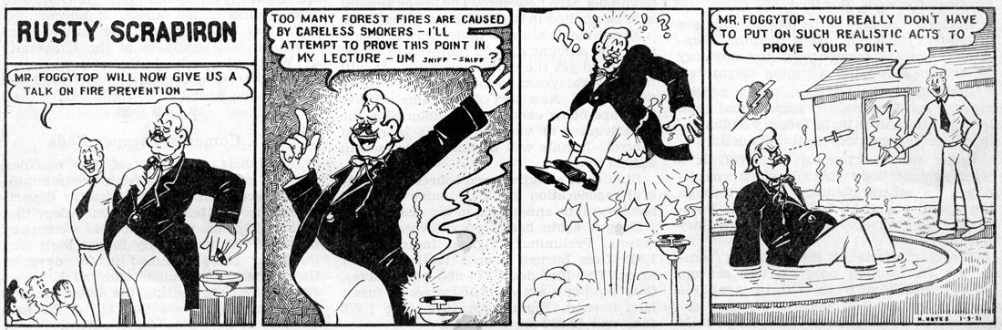 Rusty Scrapiron strip, January 1951