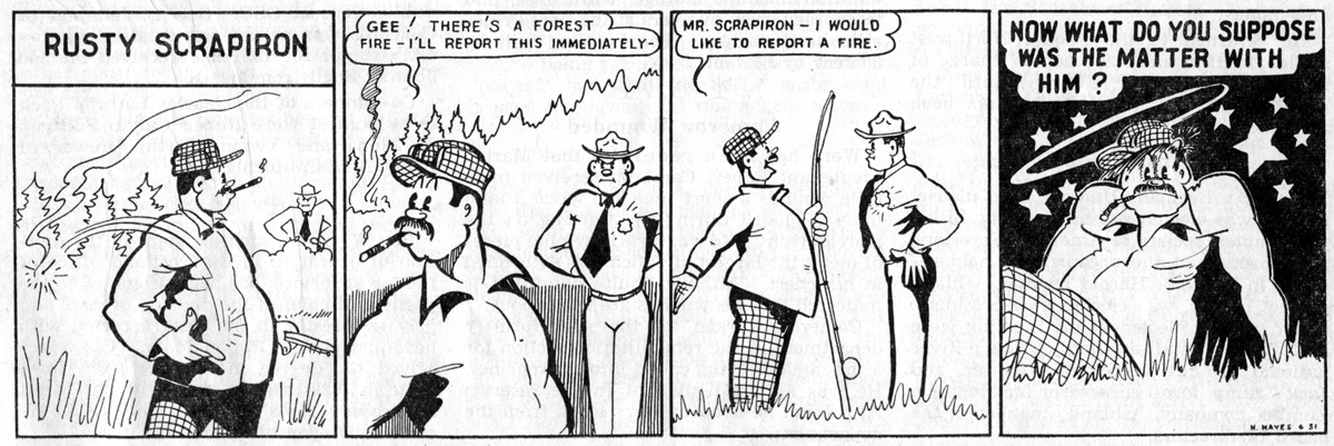 Rusty Scrapiron strip, June 1951