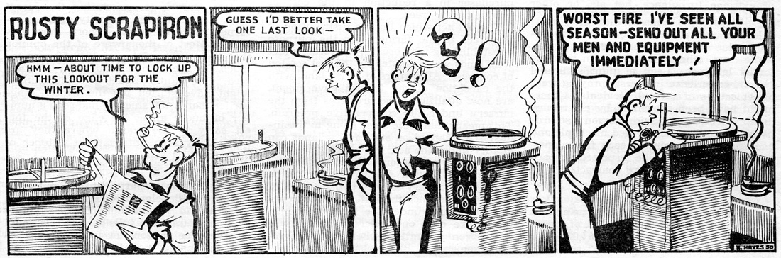 Rusty Scrapiron strip, November 1950