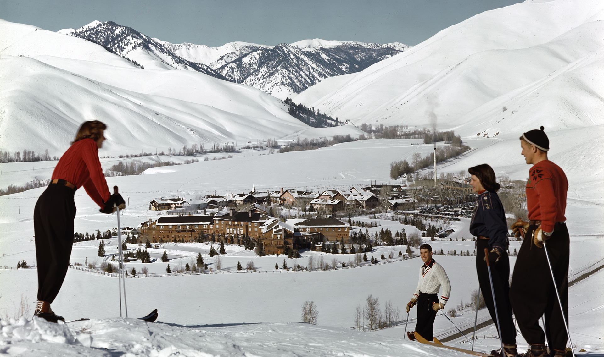 Skiers at Sun Valley, Idaho