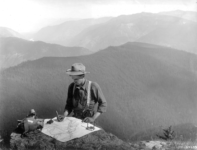 Forest ranger on Cabinet National Forest, Montana, 1909.