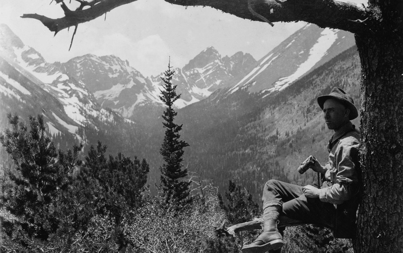 San Isabel National Forest. The Crestone Peaks in the Sangre De Cristo Range, Colorado, June 1920.