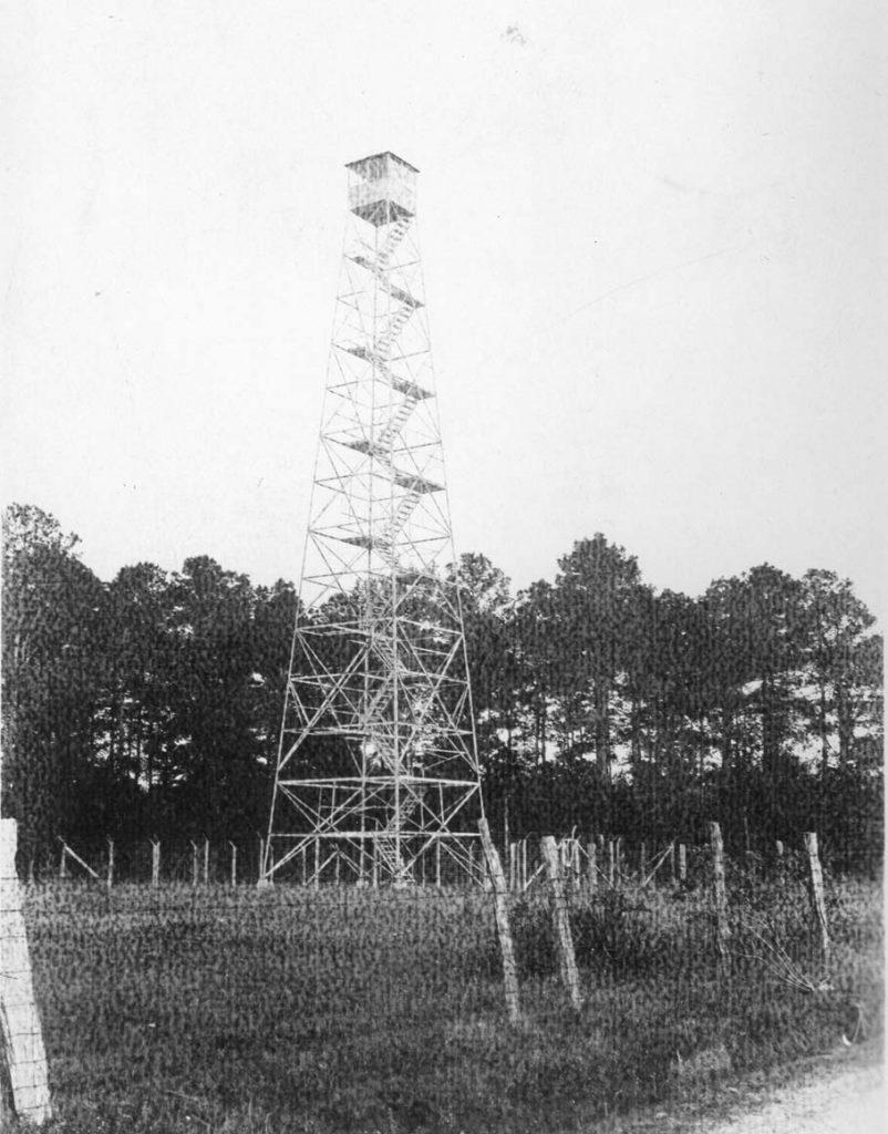 Crossett Lumber Company fire tower.