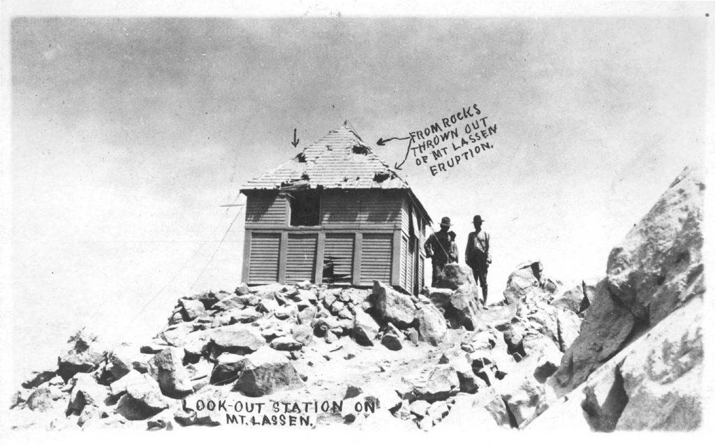 Postcard of Mt. Lassen lookout station.