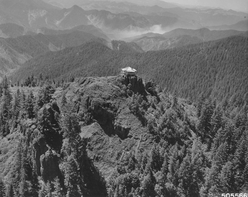 Buck Mountain lookout, Willamette National Forest, Oregon.