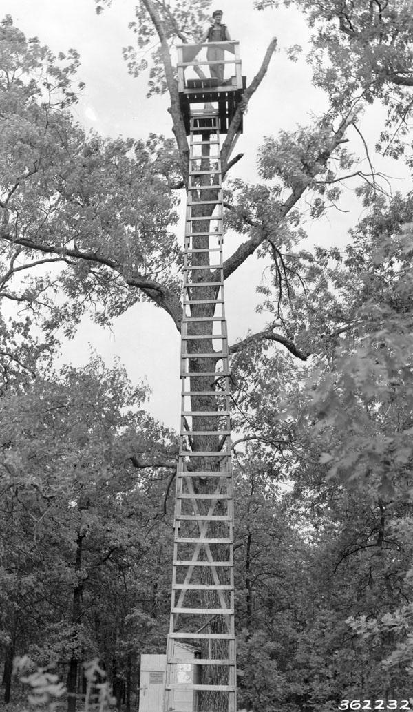 Pole tower, Camp F-17, Winona, Missouri, Clark National Forest.