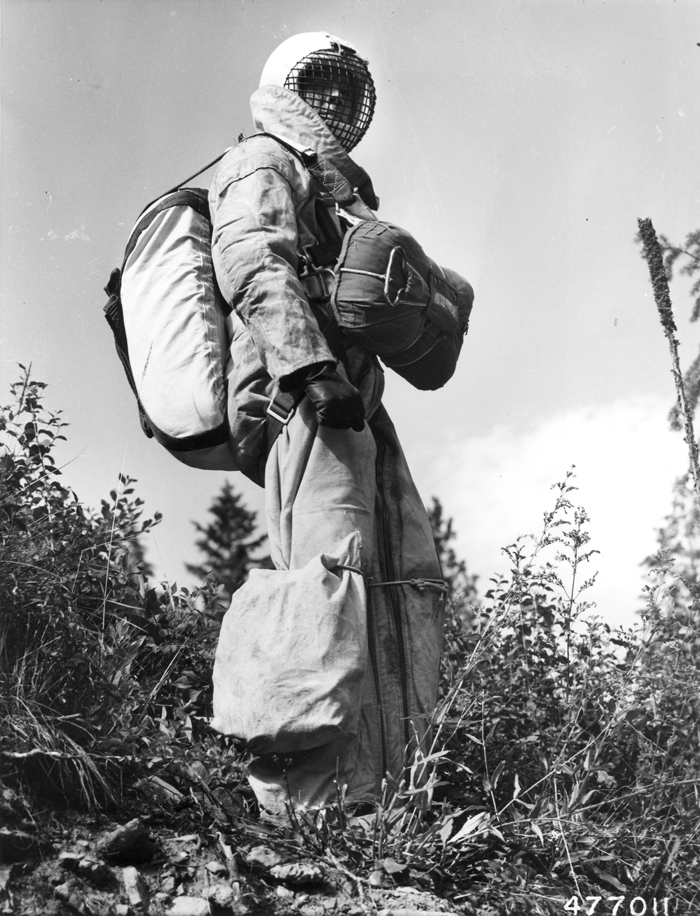 Bill Carver, foreman in smokejumper unit at Missoula, Montana.