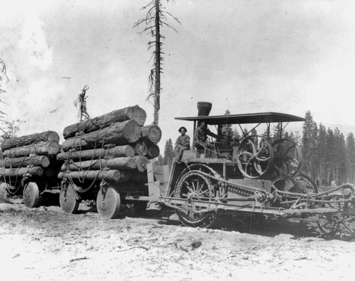 Image result for steam tractors timber operations