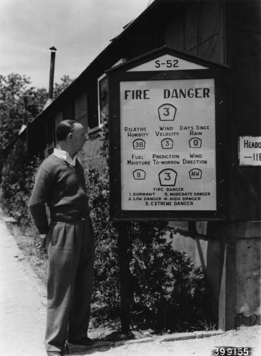Fire danger meter, 1940.