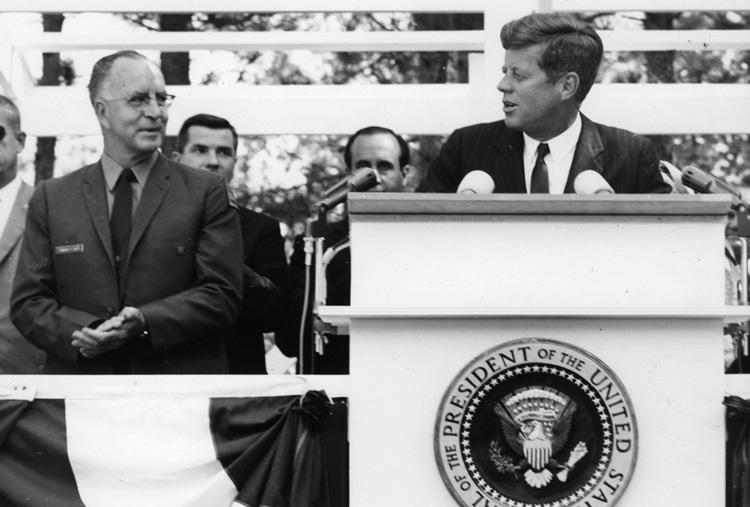 Edward Cliff and John F. Kennedy