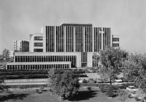 The Forest Products Laboratory, built on the University of Wisconsin campus in 1932, when Winslow was director.