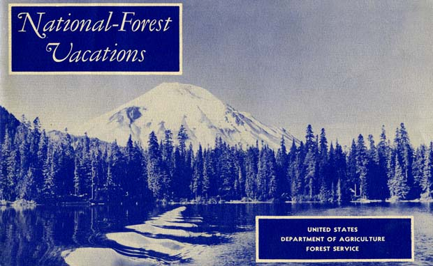 National Forest Vacations guide book, 1950.