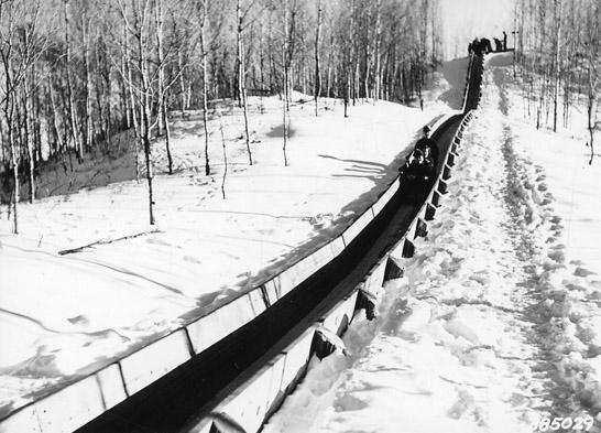 Toboggan slide at Spur Lake Winter Sports Area.