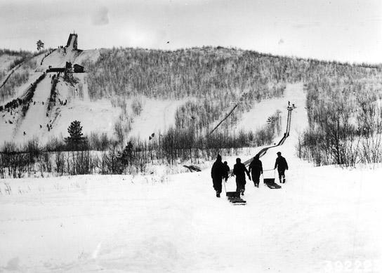 Junior toboggan slide at Mt. Valhalla.