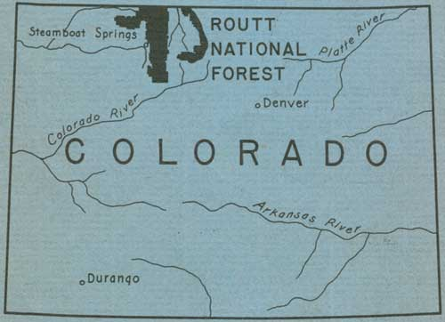 Routt Forest map
