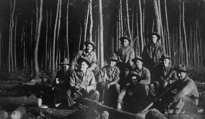 Logging crew, Mortumier, 1918.