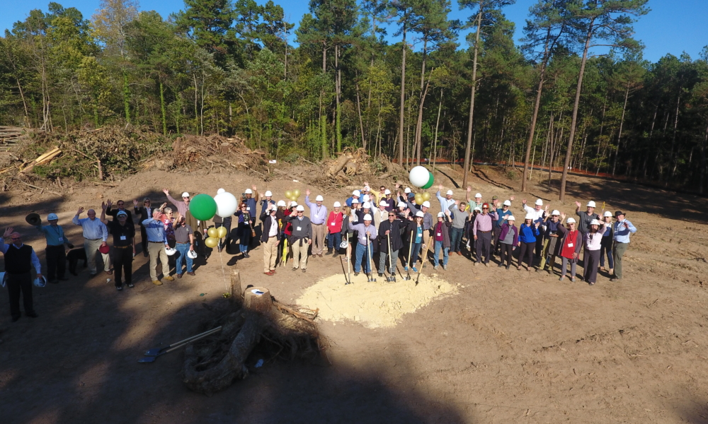 Group Wave during ground breaking ceremony.