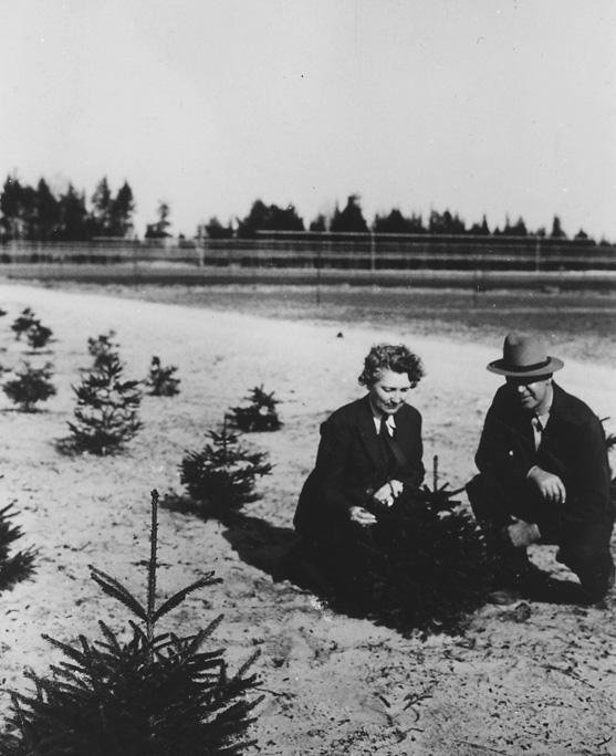 Margaret March-Mount and Nurseryman Edward F. Biebesheimer