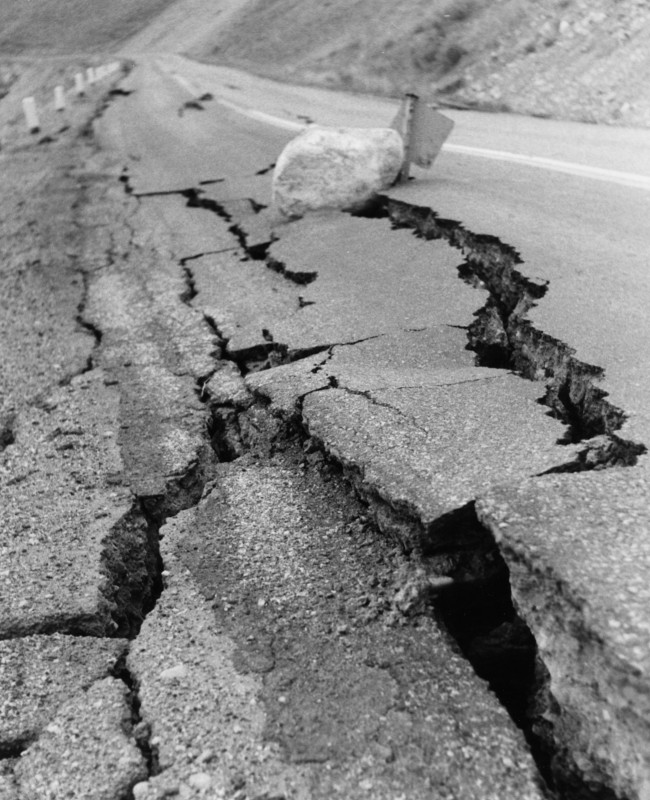 Montana earthquake road damage