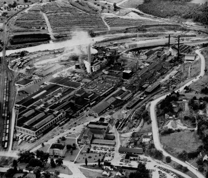 Canton mill aerial