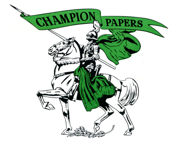 Champion Papers knight logo