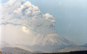 Mount St. Helens erupting, May 18, 1980