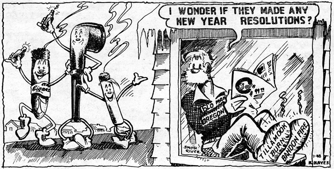 Hugh Hayes cartoon