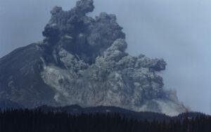 Mount St. Helens erupting, 1980