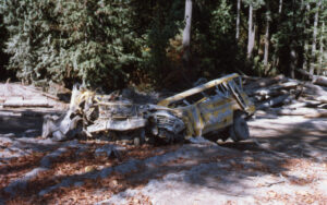 Vehicles destroyed by the eruption of Mount St. Helens, May 1980