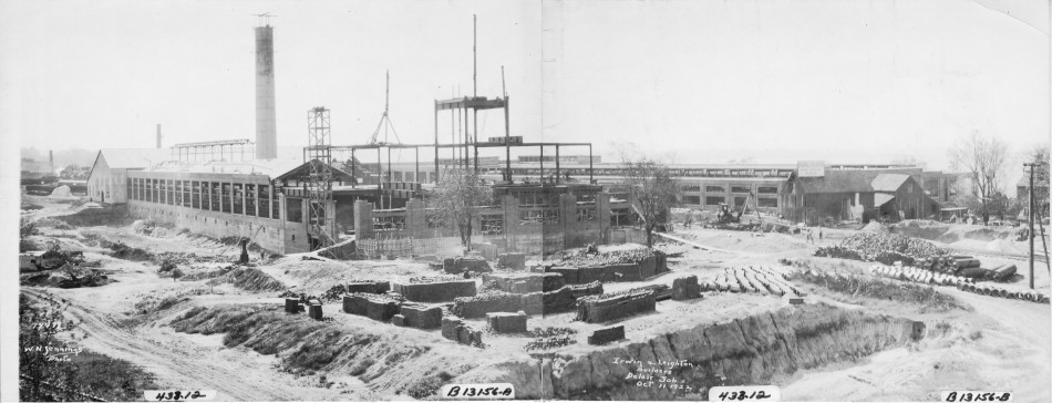 Kieckhefer Container Plant Construction, October 11, 1922.