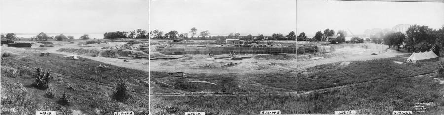 Kieckhefer Container Plant Construction, July 10, 1922.