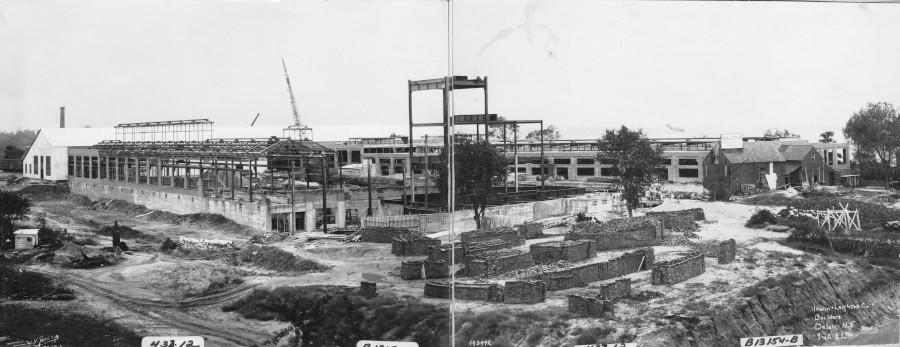 Kieckhefer Container Plant Construction, September 12, 1922.